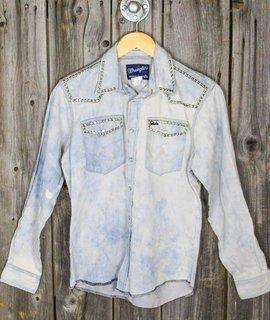 Vintage Bleached Studded Wrangler Shirt