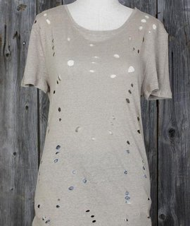 All Over Holes Hi Low Luxe Tee