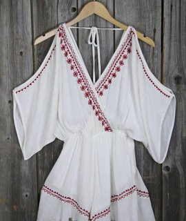 Band of Gypsies Band of Gypsies Moroccan Embroidered Playsuit