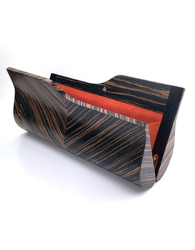 BowensBergeron BowensBergeron Sophisticate Ebony Wood Clutch
