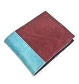 Lola Falk Lola Falk Frankie Billfold Wallet: Burgundy & Turquoise