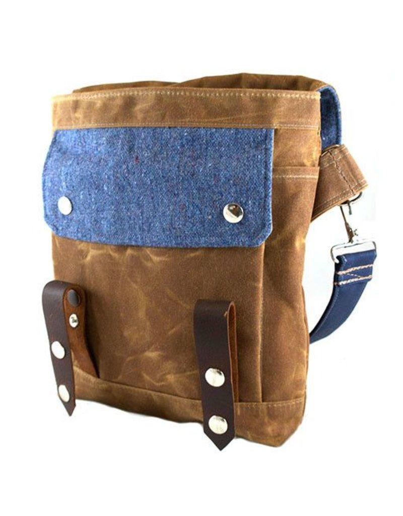 Wooly Bison Wooly Bison Satchel: Blue Speck