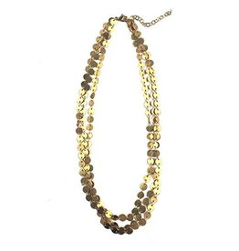 Chee-Me-No Chee-Me-No 3-Strand Dot Chain Necklace: Gold
