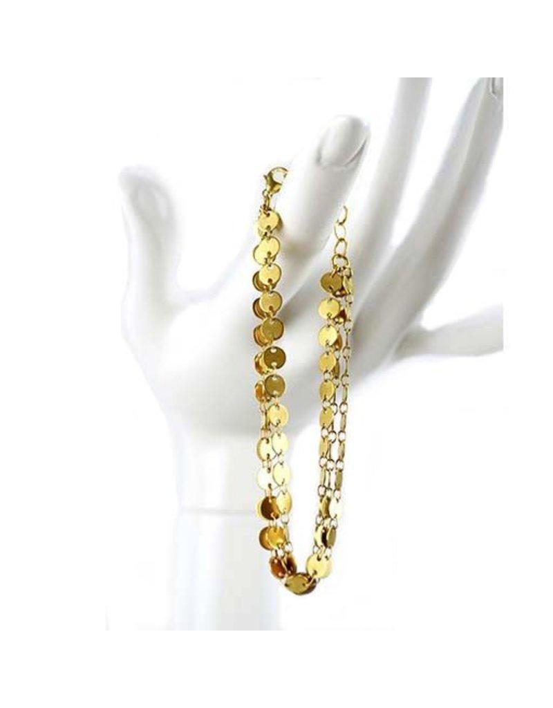 Chee-Me-No Chee-Me-No 3-Strand Dot Chain Bracelet: Gold