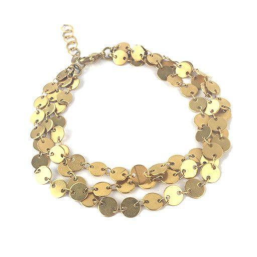 Chee-Me-No Chee-Me-No 3-Strand Dot Chain Bracelet