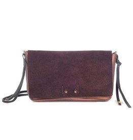 Jo Jo Ellyn Mini Clutch: Eggplant