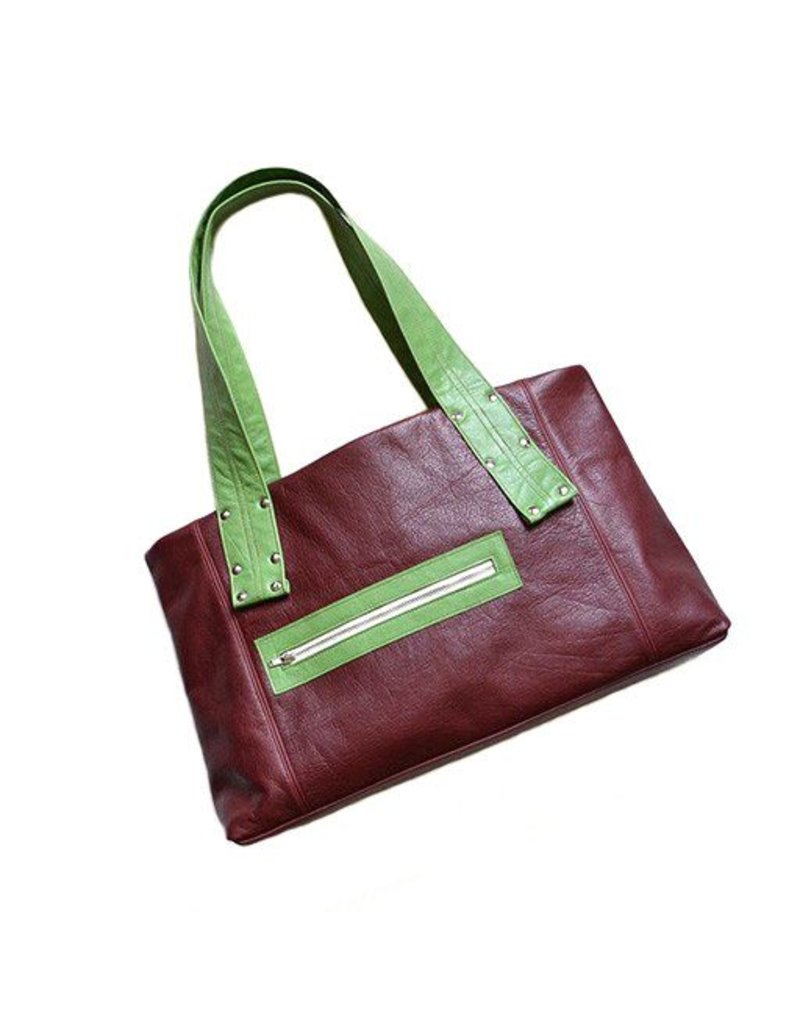 Lola Falk Lola Falk Grayson Travel Bag: Oxblood Red