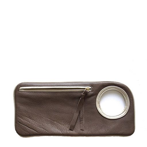 Arza Arza Bracelet Clutch, Petite: Taupe
