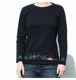 ESSE Purse Museum ESSE Tee, Silhouettes: Long Sleeve, Black: