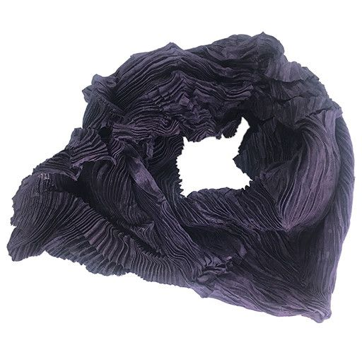 Nellie Rose Textiles Nellie Rose Silk Scarf: Dahlia, Plum