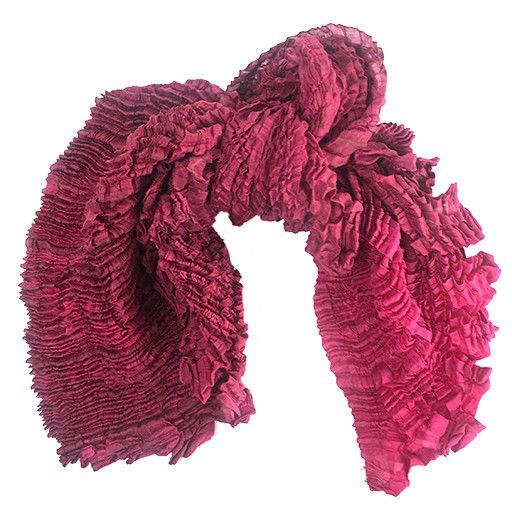 Nellie Rose Textiles Nellie Rose Silk Scarf: Bomaki Square, Raspberry