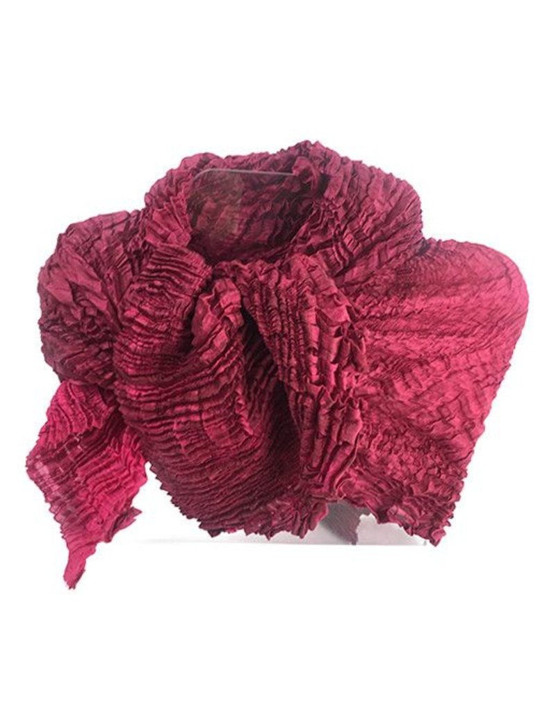 Nellie Rose Textiles Nellie Rose Silk Scarf: Bomaki Square, Raspberry