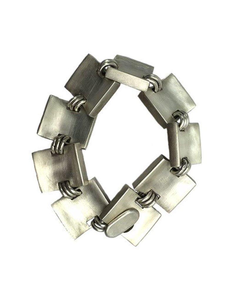 Annie Hackett Annie Hackett Bracelet: Silver Squares