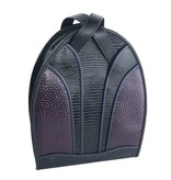Roche Leather Roche Monterey Backpack: Black & Aubergine