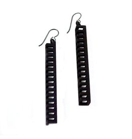 Susan Sanders Susan Sanders 3D Print Earrings #10: Black