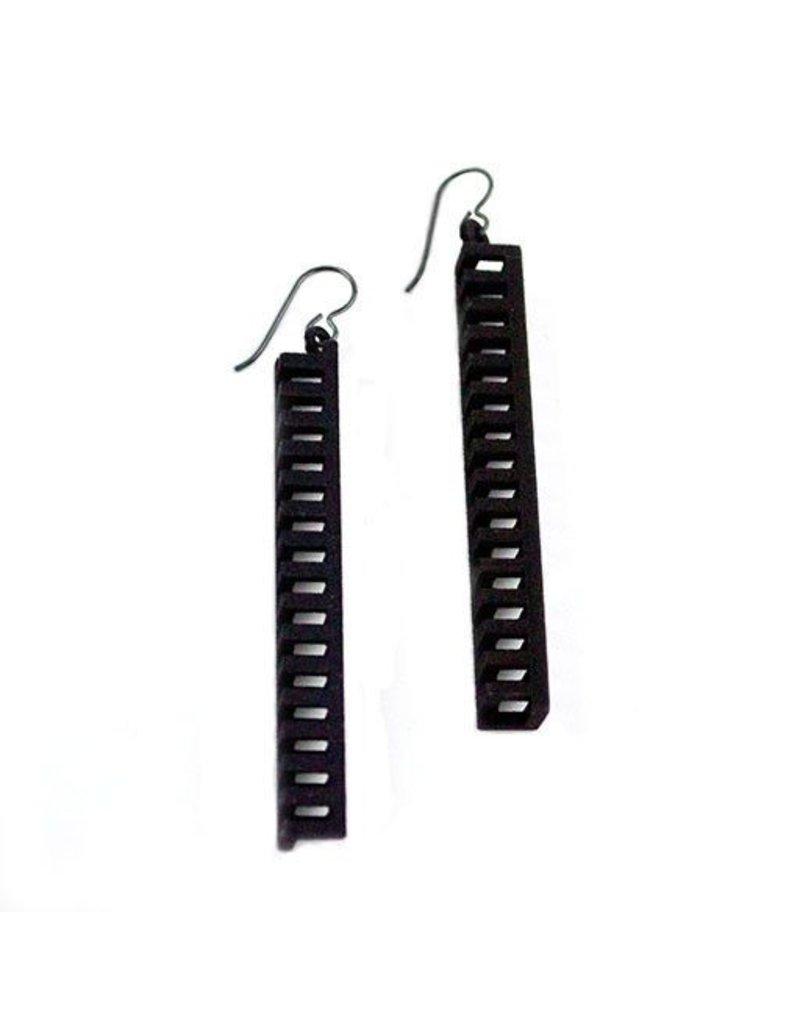 Susan Sanders Susan Sanders 3D Print Earrings #10: Black