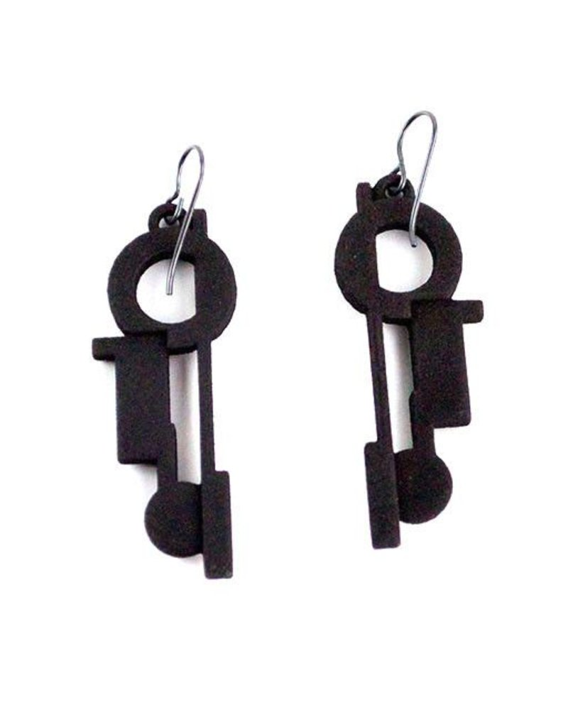 Susan Sanders Susan Sanders 3D Print Earrings #44: Black