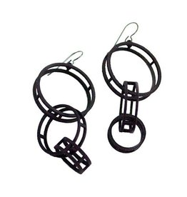 Susan Sanders Susan Sanders 3D Print Earrings #46: Black