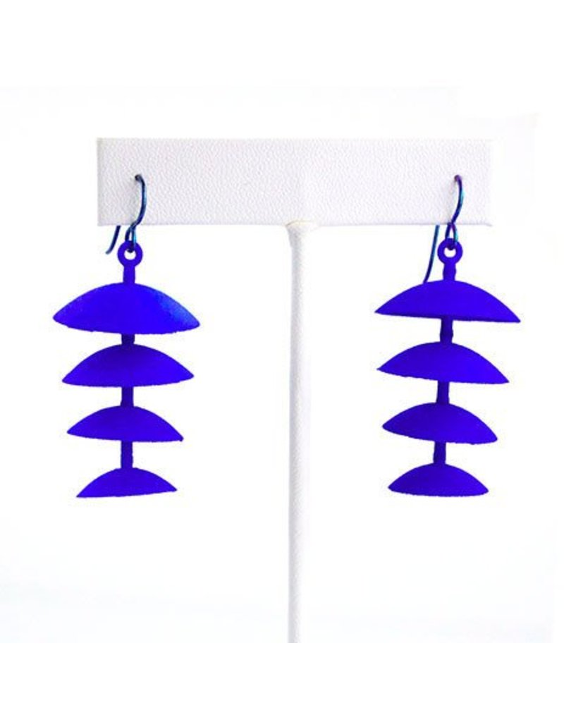 Susan Sanders Susan Sanders 3D Print Earrings #74: Electric Blue