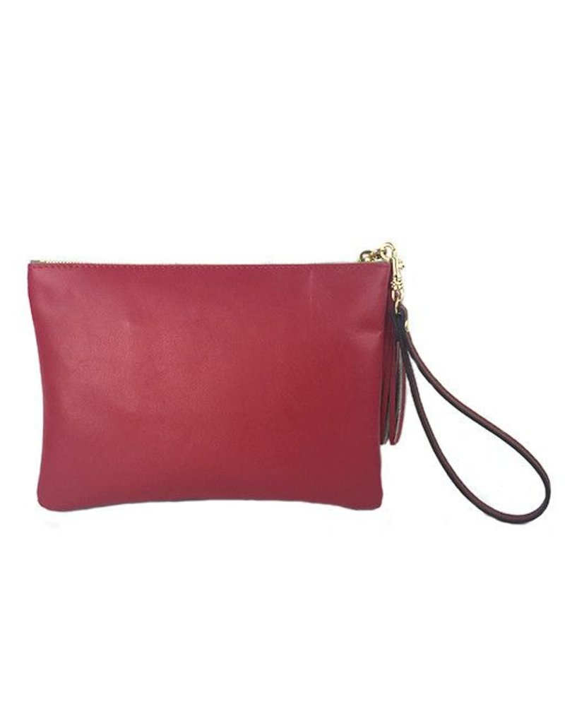 Anya Sushko Anya Sushko Mini Berry Wristlet: Red