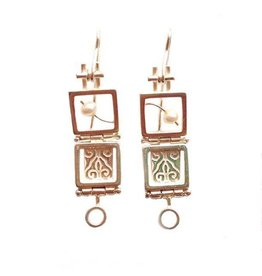 Donna D'Aquino Donna D'Aquino Dangles: Double Squares with Pearls