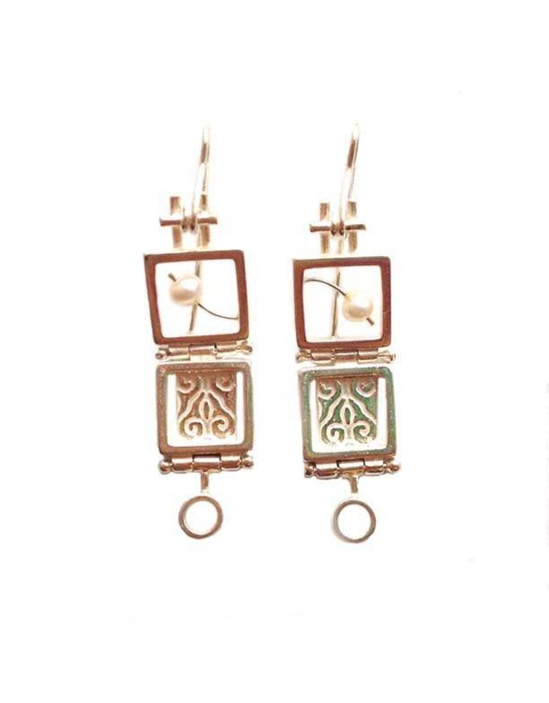 Donna D'Aquino Donna D'Aquino Dangles: Double Squares with Pearls
