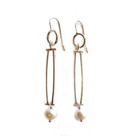 Donna D'Aquino Donna D'Aquino Dangles: Double Bars with Pearls
