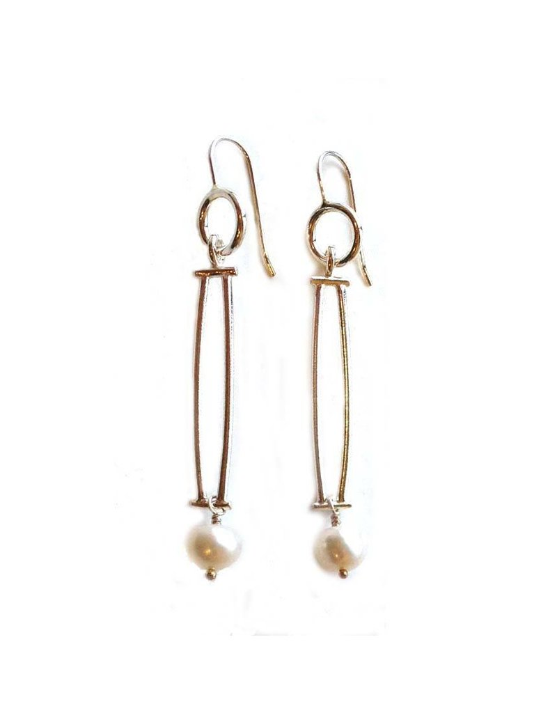 Donna D'Aquino Donna D'Aquino Dangles: Double Bars with Pearls