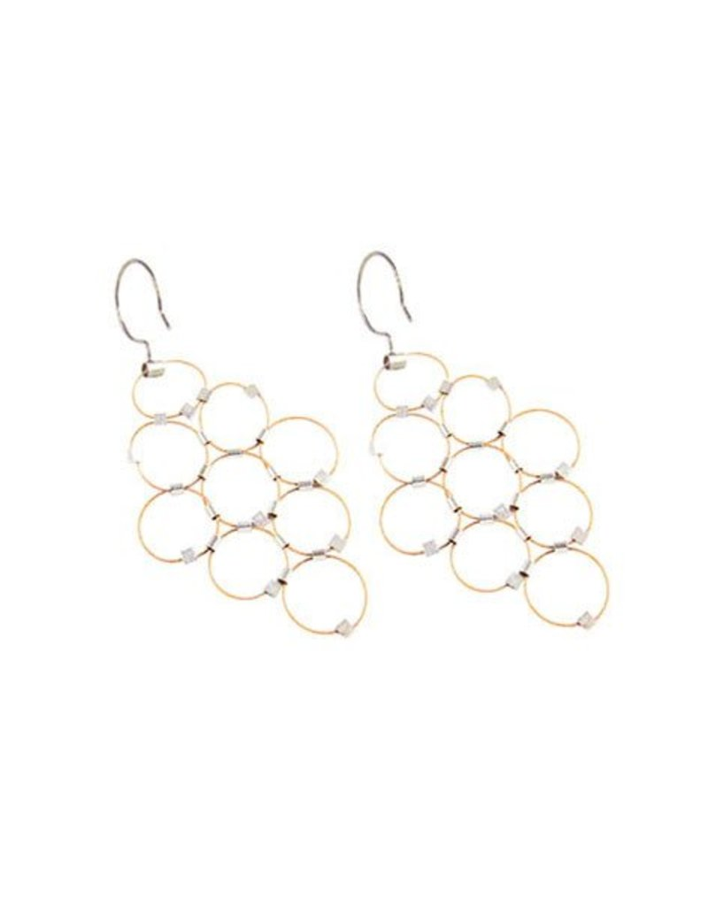Meghan Patrice Riley Meghan Patrice Riley Dangles: Bubbles, Gold & Silver
