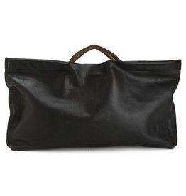 Jo Jo East Clutch: Espresso Black