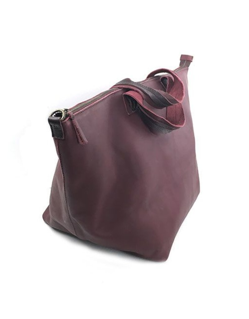 Jo Jo Bucket Bag: Burgundy