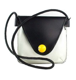 Carol Risley Carol Risley Large Crossbody: Black, White, Yellow