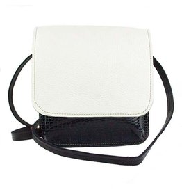 Carol Risley Carol Risley Small Crossbody: Black, White, Blue