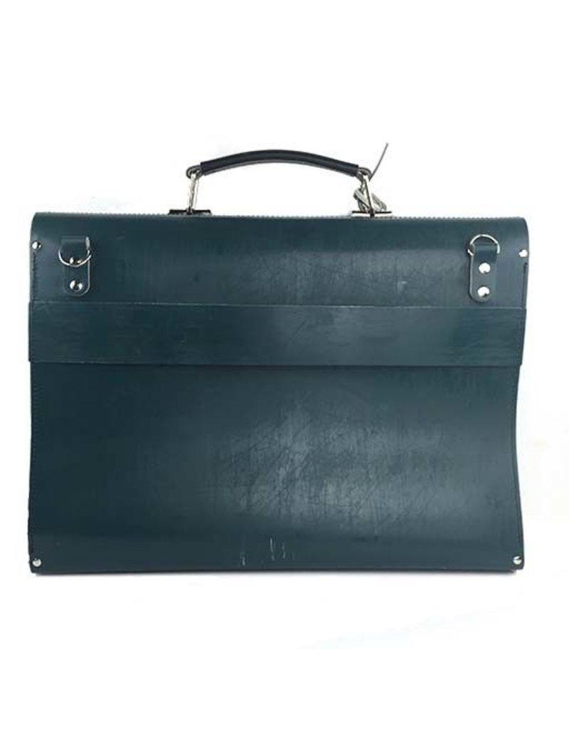 Kazmok Kazmok Principal Briefcase: Teal & Black