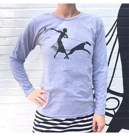 ESSE Purse Museum ESSE Mural Long Sleeve Gray T-Shirt
