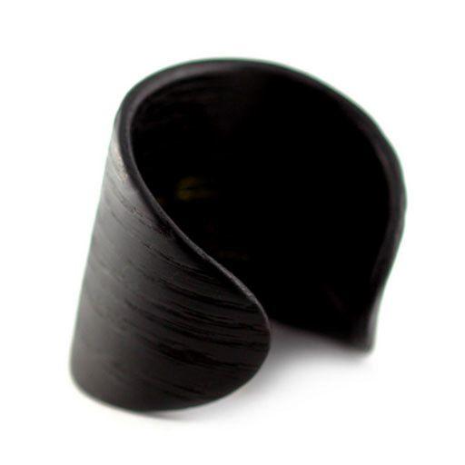 Gustav Reyes Gustav Reyes Oval Cuff: Ebonized Oak