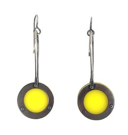 Ally Weaver Ally Weaver Plexi Circle Drops: Yellow