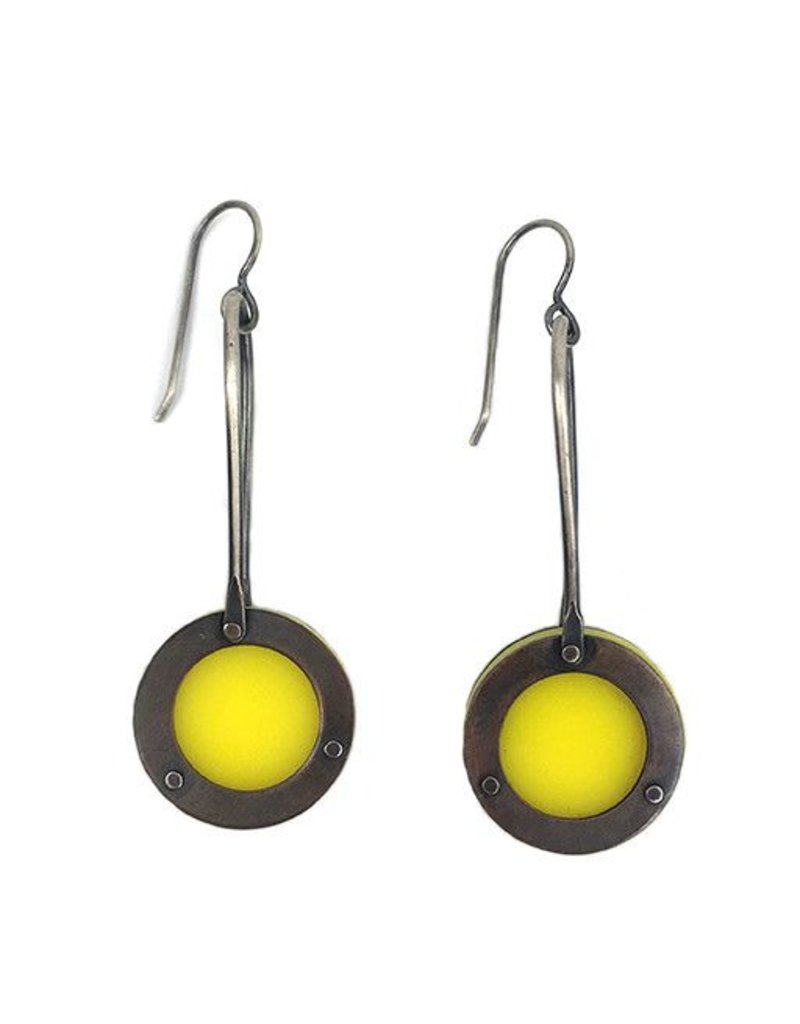 Ally Weaver Ally Weaver Plexi Circle Drops: Yellow