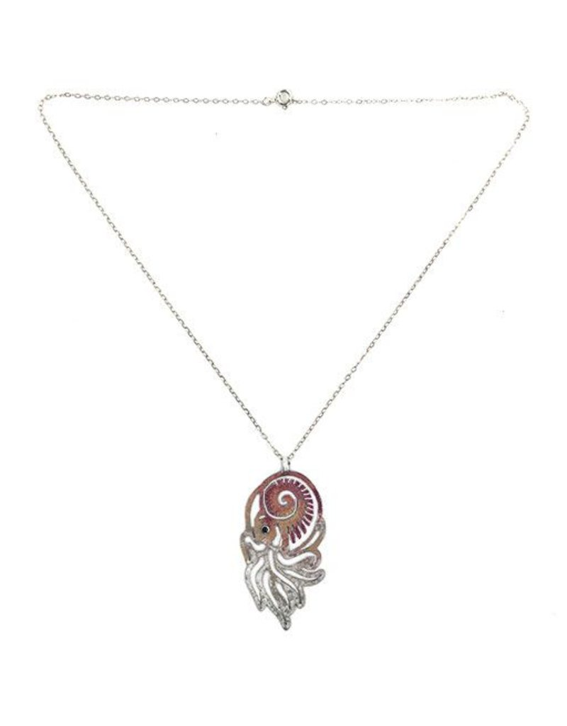 Ally Weaver Ally Weaver Necklace: Steel Nautilus