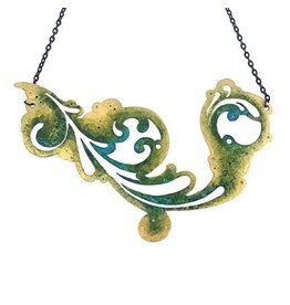 Ally Weaver Ally Weaver Necklace: Steel Swirl