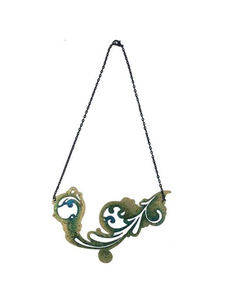 Ally Weaver Ally Weaver Necklace: Steel Swirl
