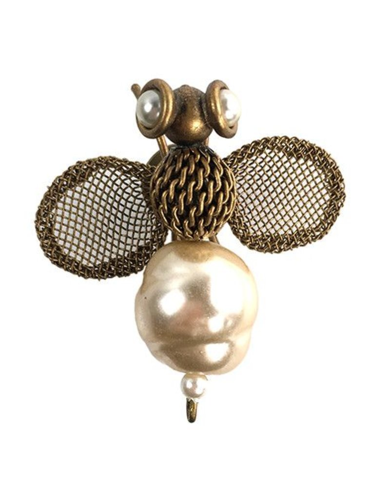 Sarah Cavender Sarah Cavender Brooch: Small Pearl Bee, Bronze