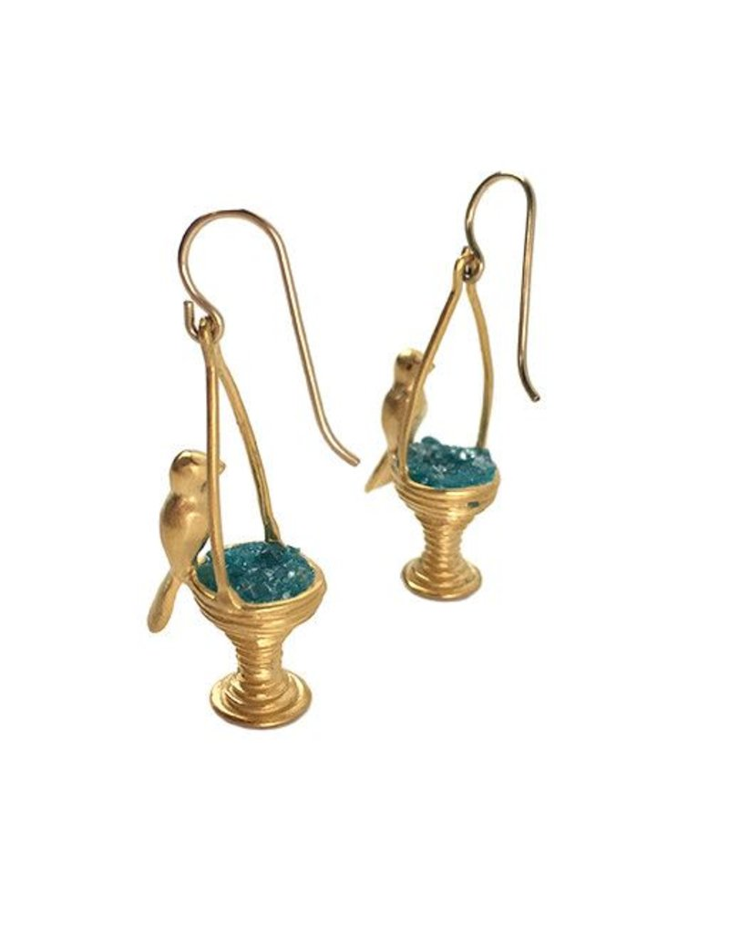 Chee-Me-No Chee-Me-No Bird Bath Dangles: Gold