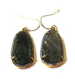 Avindy Avindy Pave Pebble Earrings