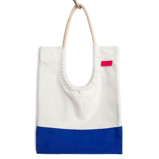 Toute Toute Tote Bag: White & Blue
