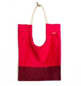 Toute Toute Tote Bag: Blossom & Burgandy