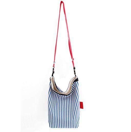 Toute Toute Lunch Bag: Blue Stripes