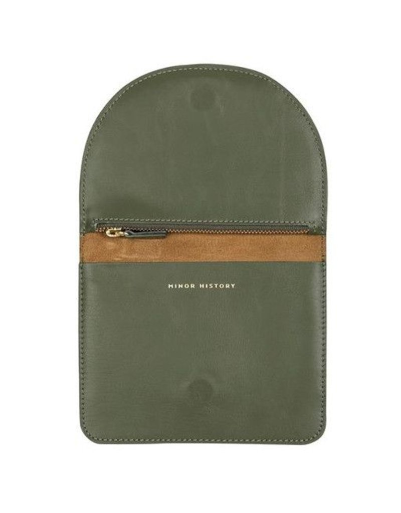 Minor History Minor History Luna Foldover Clutch: Gold & Olive