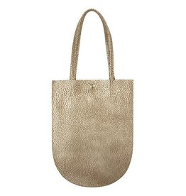 Minor History Minor History Half Moon Accordian Tote: Gold Pebble