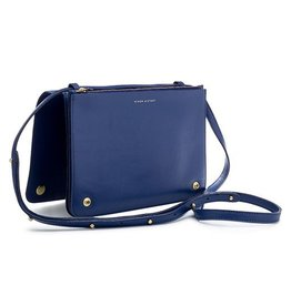 Minor History Minor History Daily Ledger Accordion Crossbody: Cobalt